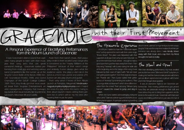 Our magazine layout :)