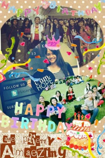 A very cute collage from my disciple :)