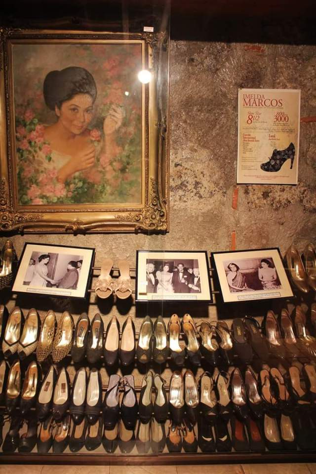 Some pairs of shoes of Former First Lady Imelda Marcos